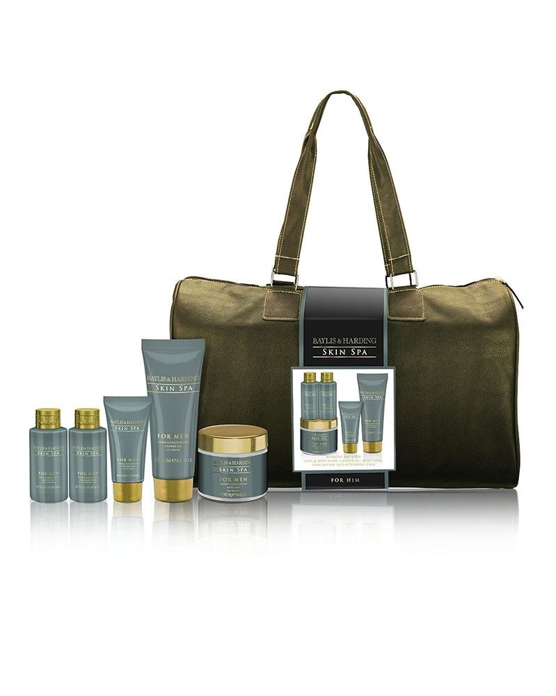 مجموعة هدية Skin Spa للرجال مع حقيبة - بايليس هاردينغ