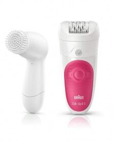 براون - آلة نزع الشعر Wet & Dry مع فرشاة الوجه Silk-épil 5-5537