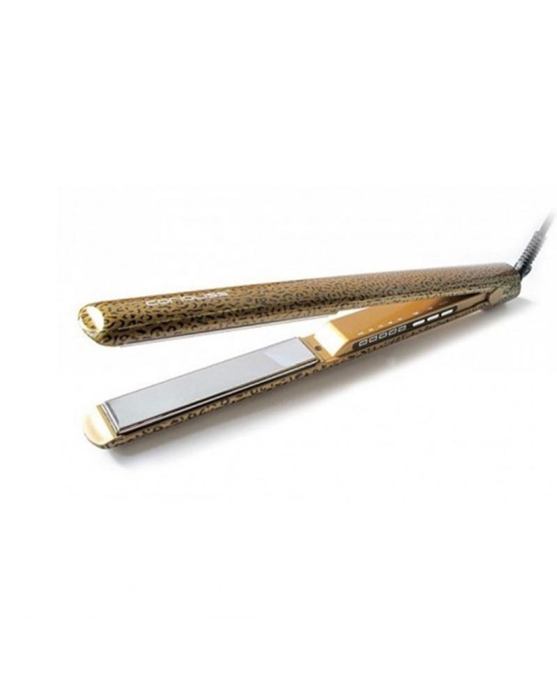 CORIOLISS - Fer à lisser Plaques en Titane C3 Léopard Gold