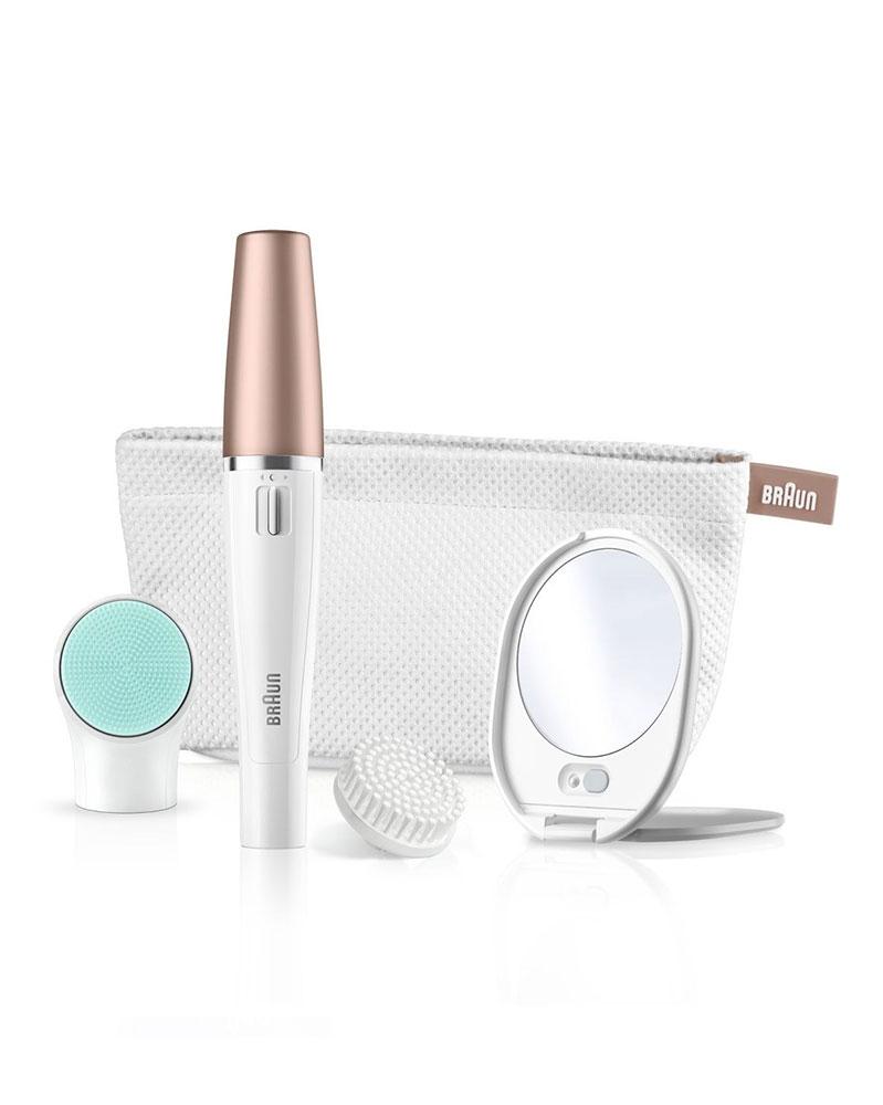 براون - آلة نزع الشعر و فرشاة لتنظيف الوجه SE 851V