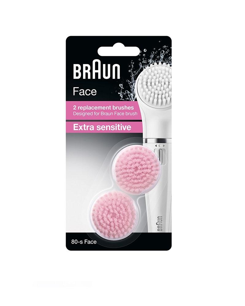 Brosse Extra Sensitive SE80-S pour BRAUN Face