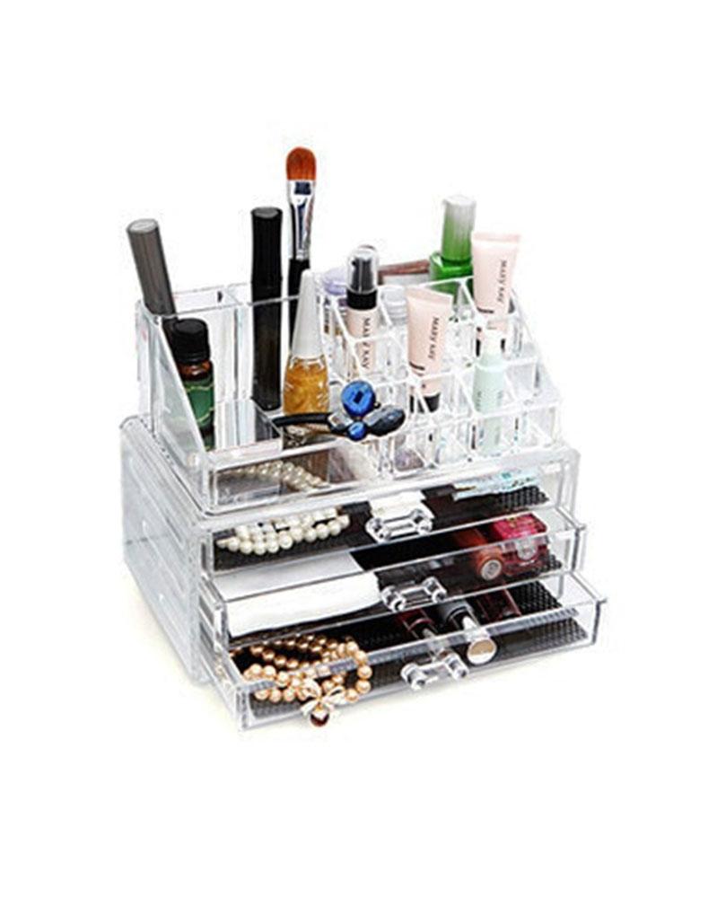 علبة ترتيب و تخزين منتجات الماكياج و التجميل