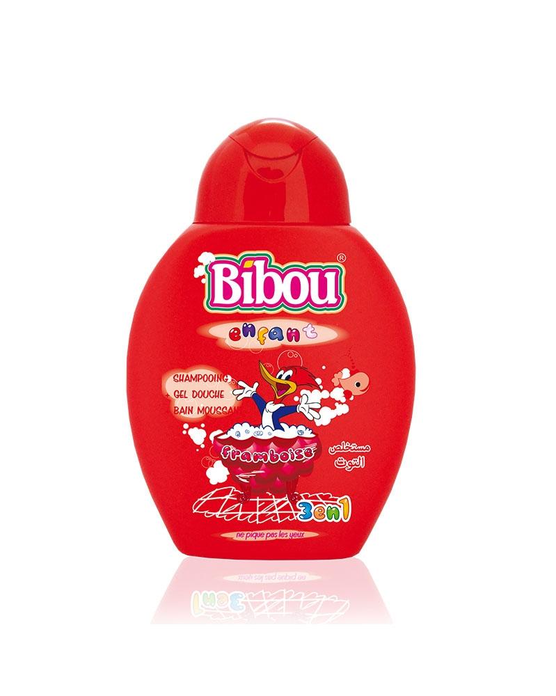Shampoing Bibou Enfant 3 en 1 Framboise 280 ml