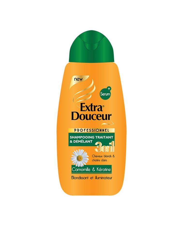 Shampoing Extra Douceur 3 en 1 Camomille & Kératine 280 ml
