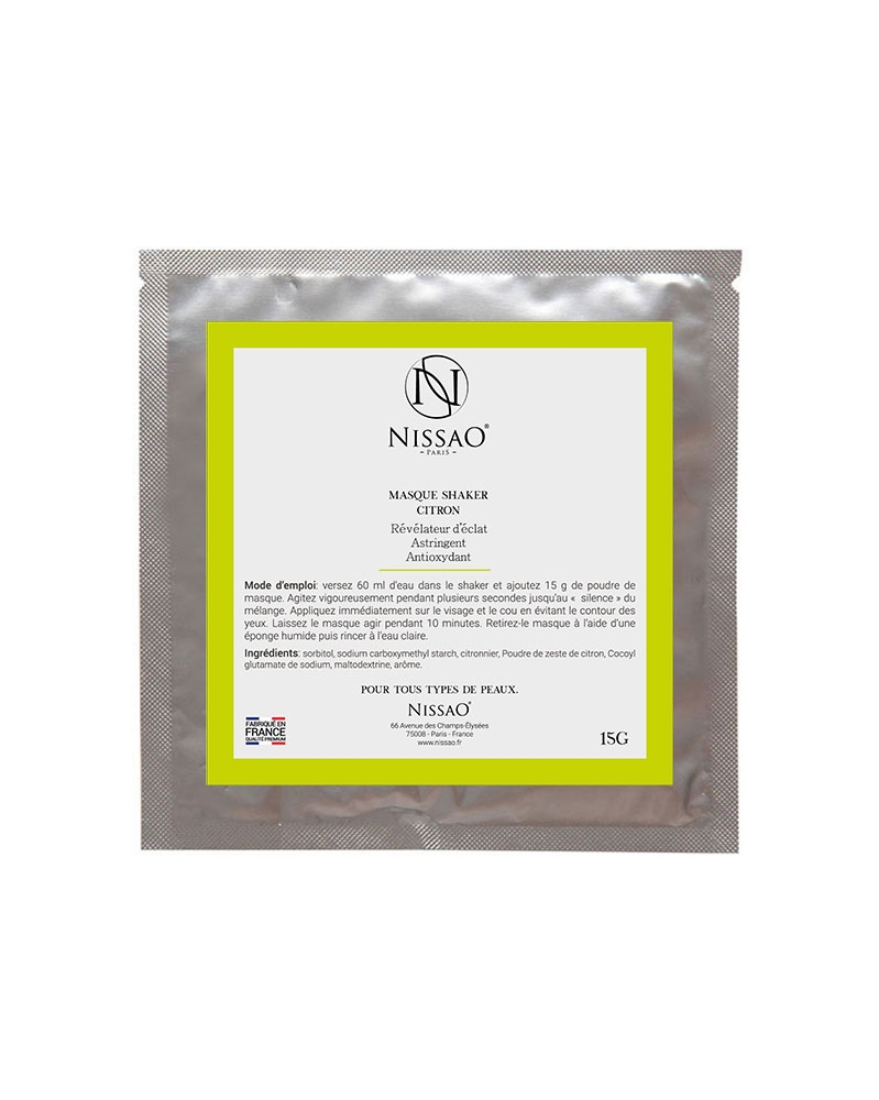NISSAO - Masque Shaker Citron Soin Visage 15 g