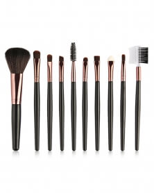 Ensemble de 10 Pinceaux de Maquillage Professionnels