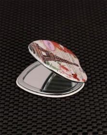 مرآة جيب شكل قلب برج ايفل
