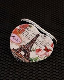 Miroir de Poche Forme Coeur Tour Eiffel