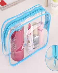 حقيبة صغيرة شفافة لمستحضرات التجميل