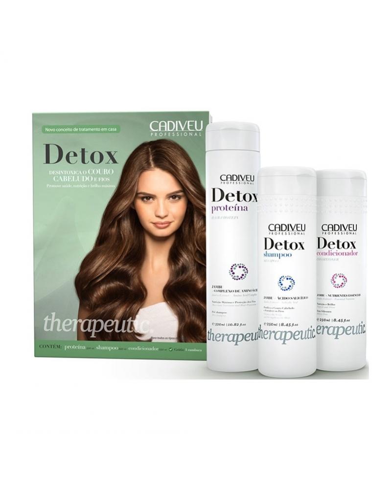 CADIVEU - Professionnel Kit De Traitement Cheveux DETOX Thérapeutique