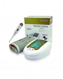 جهاز قياس ضغط تلقائي مع جهاز قياس الحرارة ومحول - ميكرولايف