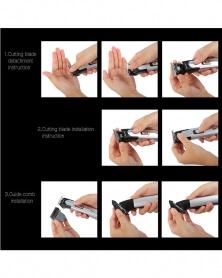 KEMEI - Tondeuse Cheveux Électrique Rechargeable