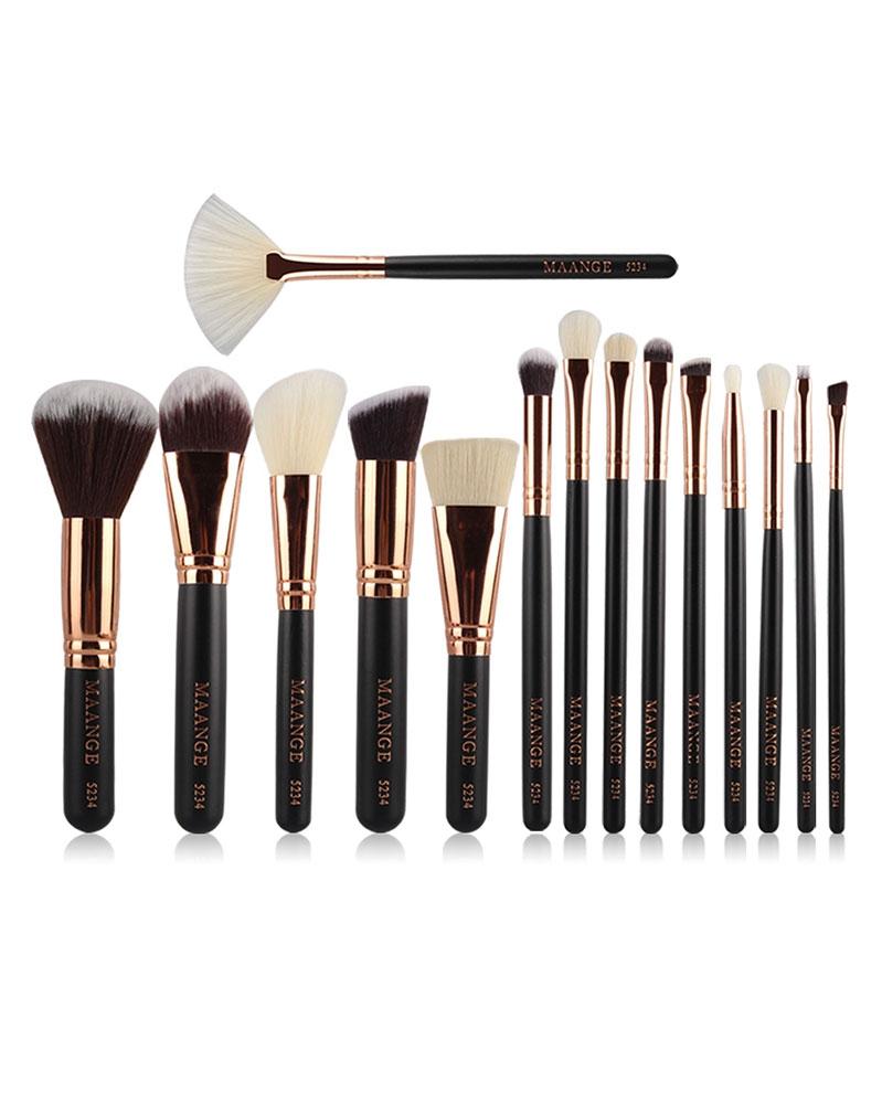 Kit Beauté de 15 Pinceaux de Make Up Professionnels
