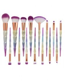 Ensemble de 15 Pinceaux de Maquillage Licorne Professionnels Haute Qualité