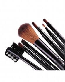 Ensemble 7 Pièces de Pinceaux de Maquillage Portable