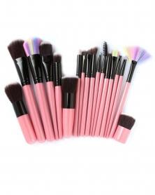 Kit Complet de 18 Pinceaux de Maquillage Professionnels Rose