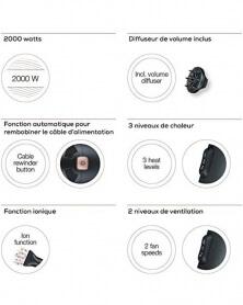 بيورر - مجفف شعر2200 واط بتقنية الإيونات HC55