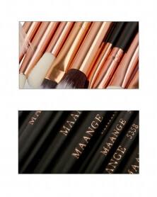 Pack de 10 pinceaux de maquillage professionnel Noir