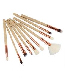 Pack de 10 pinceaux de maquillage professionnel Blanc