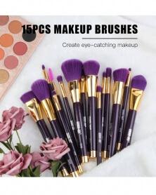 Kit De Beauté De 15 Pinceaux De Make Up Professionnels très Haute qualité Violet