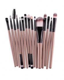 Lot de 15 pinceaux de maquillage professionnel Marron