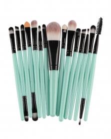Lot de 15 pinceaux de maquillage professionnel Bleu