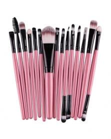 Lot de 15 pinceaux de maquillage professionnel Rose