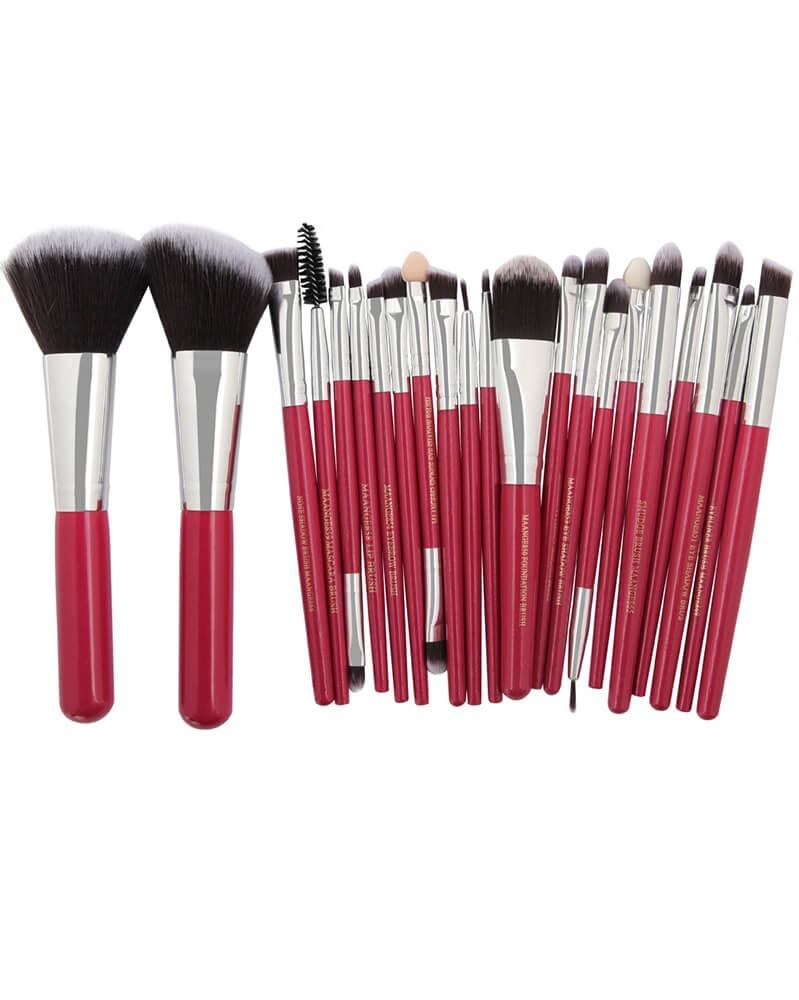 Nouveau lot de 22 pinceaux de make up très haute qualité Rouge