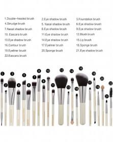 Nouveau lot de 22 pinceaux de make up très haute qualité Blanc