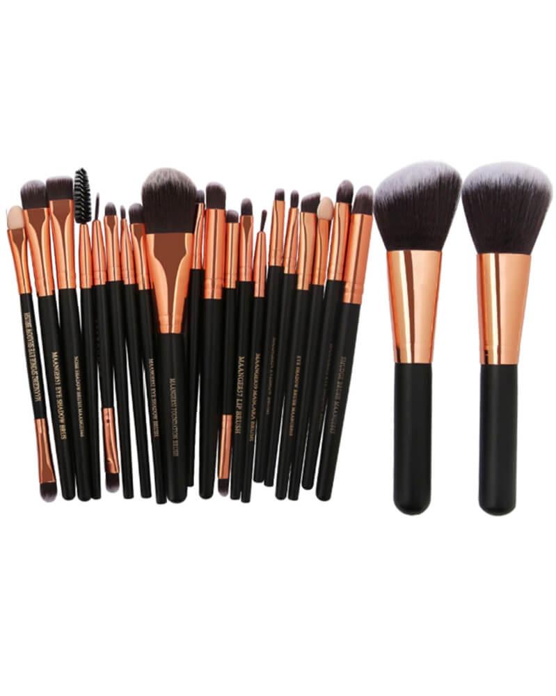 Nouveau lot de 22 pinceaux de make up très haute qualité Noir