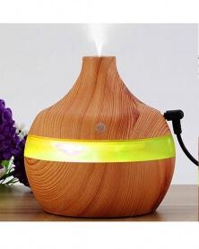 Humidificateur Electrique et Diffuseur d\'huile Essentiel Ultrason, Eclairage d\'ambiance LED