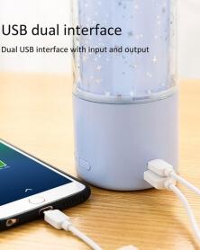 Humidificateur Diffuseur Aromathérapie LED 7 Couleurs avec double USB - Blanc