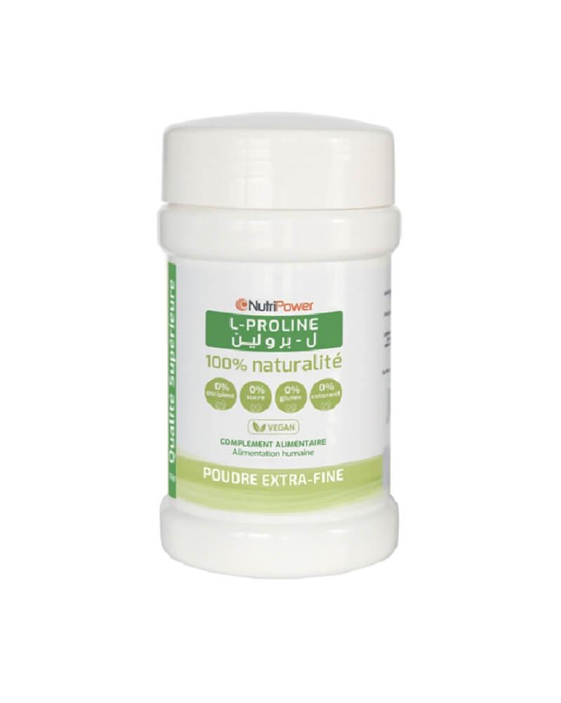NUTRIPOWER - L-Proline Pure en Poudre 120 g