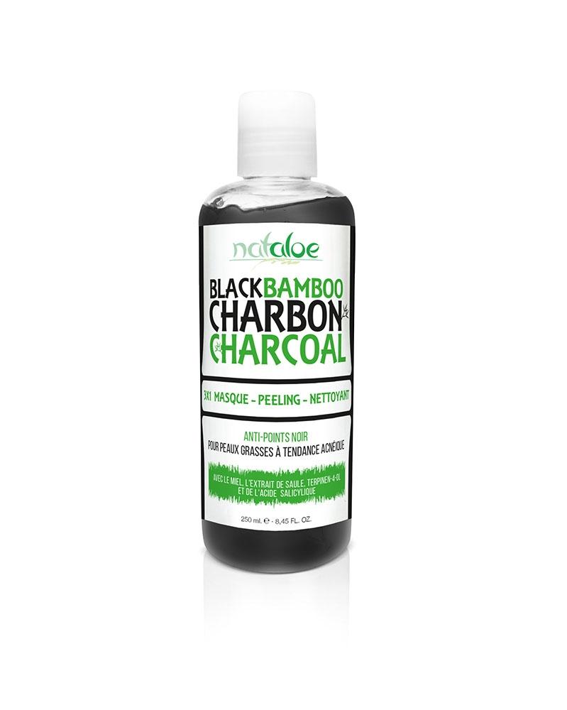 NATALOE - Black Bamboo Charbon 3X1 Masque Peeling Nettoyant 250 ml