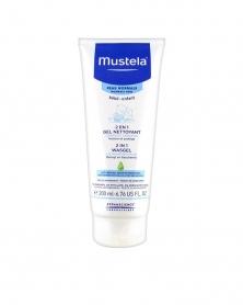 MUSTELA - 2 en 1 Gel Nettoyant Cheveux et Corps pour Bébé 200 ml