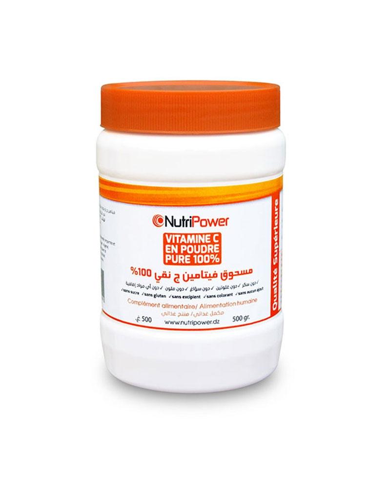 NUTRIPOWER - Vitamine C en Poudre 100% Pure d\'Origine Végétale 500 g