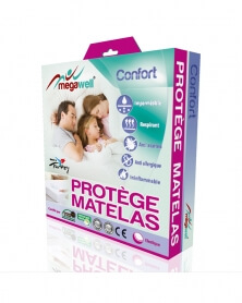 MEGAWELL - Protège Matelas Confort 200*200 cm